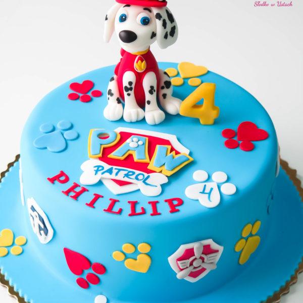 U124 - tort urodzinowy, na urodziny, dla dzieci, artystyczny, psi patrol, warszawa