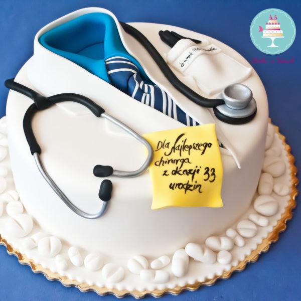 U125 - tort urodzinowy, na urodziny, artystyczny, lekarz, doktor, warszawa