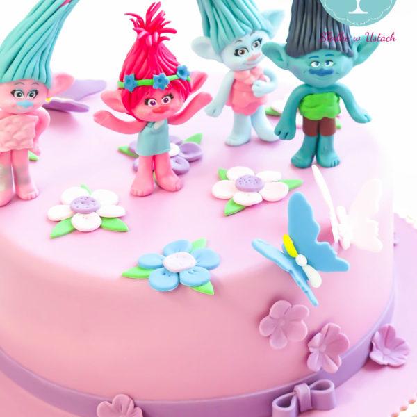 U127 - tort urodzinowy, na urodziny, dla dzieci, artystyczny, trolle, warszawa