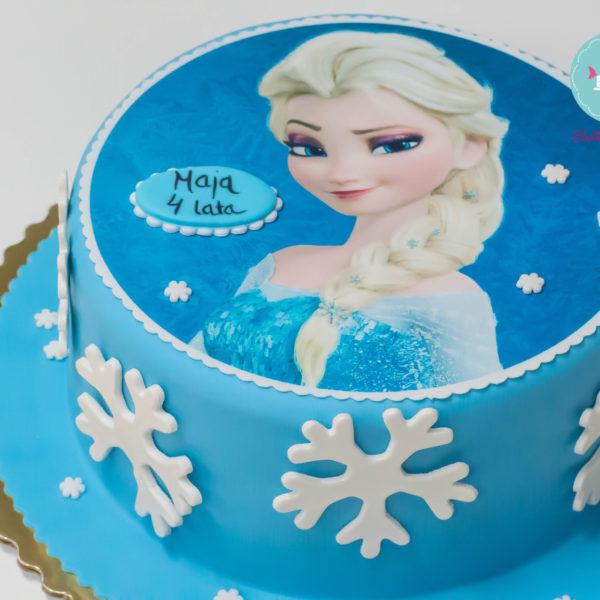 U131 - tort urodzinowy, na urodziny, dla dzieci, artystyczny, kraina lodu, księżniczka, elsa, konstancin jeziorna, warszawa, piaseczno