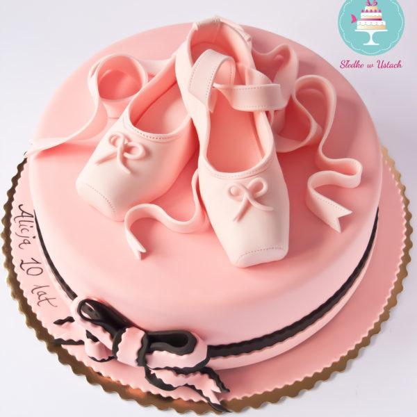U148 - tort urodzinowy, na urodziny, taniec, balet, baletki, artystyczny, muzyka
