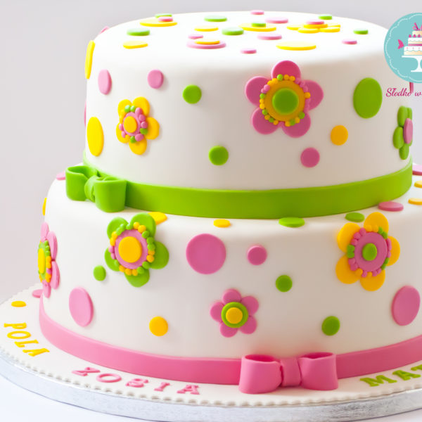 U150 - tort urodzinowy, na urodziny, artystyczny, z kwiatami,