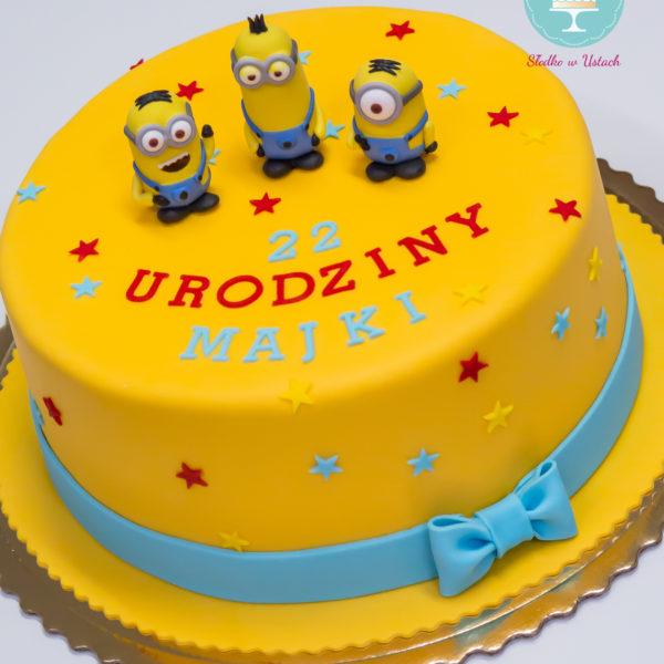 U153 - tort urodzinowy, na urodziny, dla dzieci, artystyczny, minionki, konstancin jeziorna, warszawa