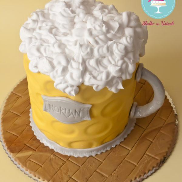 U155 - tort urodzinowy, na urodziny, artystyczny, kufel, warszawa
