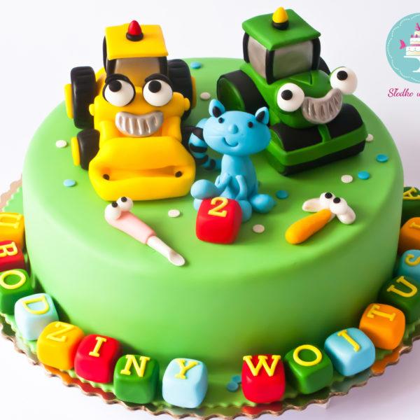 U159 - tort urodzinowy, na urodziny, dla dzieci, artystyczny, bob budowniczy, warszawa