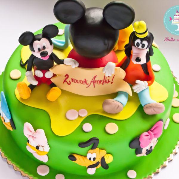 U160 - tort urodzinowy, na urodziny, dla dzieci, artystyczny, klub przyjaciół myszki miki, warszawa