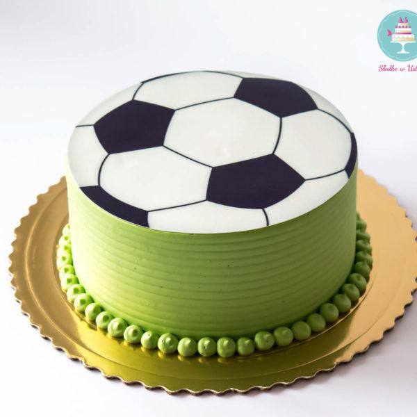 U162 - tort urodzinowy, na urodziny, klasyczny, piłka, warszawa