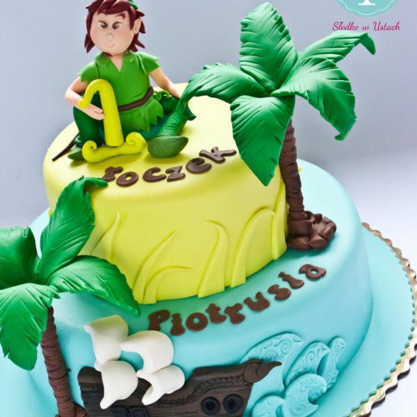 U165 - tort urodzinowy, na urodziny, dla dzieci, artystyczny, piotruś pan, konstancin jeziorna, warszawa, piaseczno