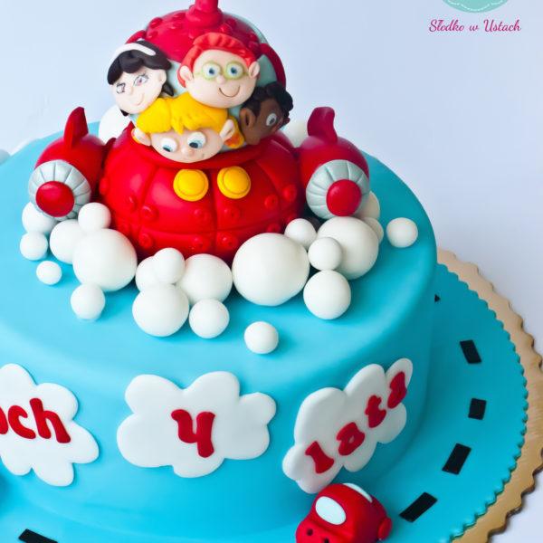 U167 - tort urodzinowy, na urodziny, dla dzieci, artystyczny, mali einsteini