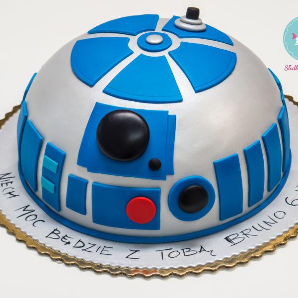 U169 - tort urodzinowy, na urodziny, dla dzieci, artystyczny, star wars, gwiezdne wojny, r2d2, warszawa, z dostawą,