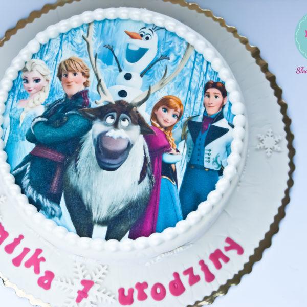 U170 - tort urodzinowy, na urodziny, dla dzieci, artystyczny, kraina lodu, księżniczka, elsa, konstancin jeziorna, warszawa, piaseczno