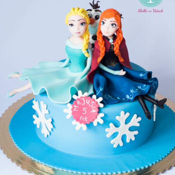 U171 - tort urodzinowy, na urodziny, dla dzieci, artystyczny, kraina lodu, księżniczka, elsa, olaf, konstancin jeziorna, warszawa, piaseczno