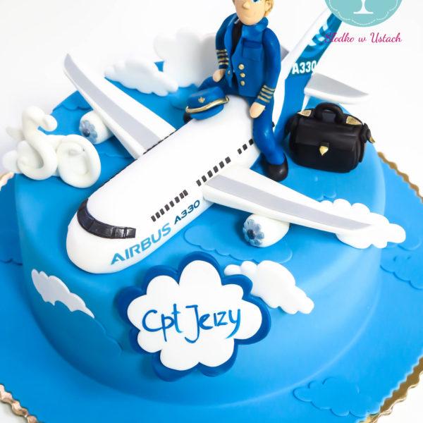 U172 - tort urodzinowy, na urodziny, samolot, pilot, artystyczny, warszawa, z dostawą,