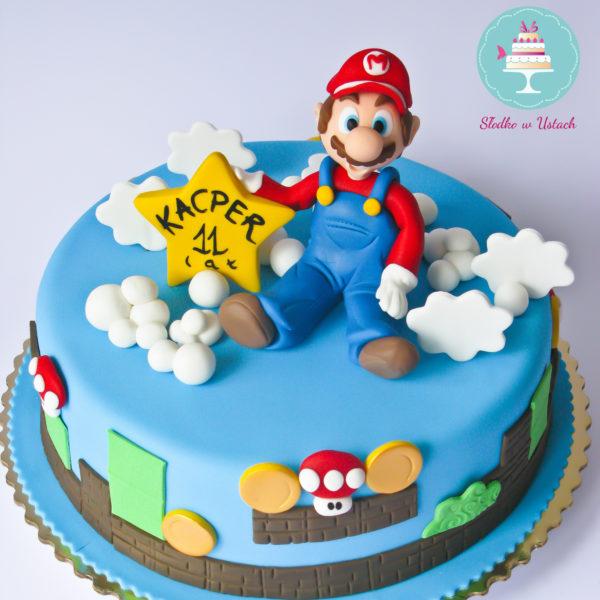 U176 - tort urodzinowy, na urodziny, dla dzieci, artystyczny, mario bros, super mario, warszawa