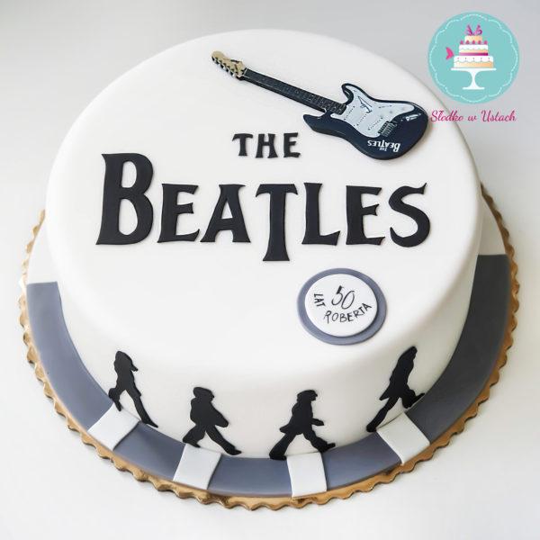 U191 - tort urodzinowy, na urodziny, artystyczny, hobby, pasja ,the beatles, muzyka ,rock, warszawa