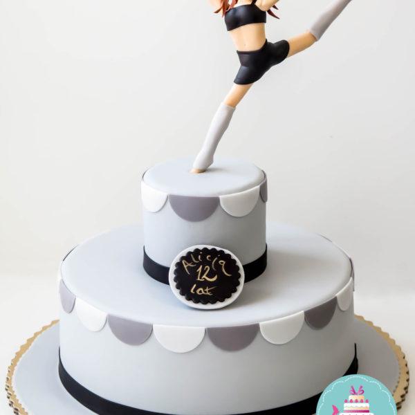 U192 - tort urodzinowy, na urodziny, taniec, pasja, artystyczny, muzyka