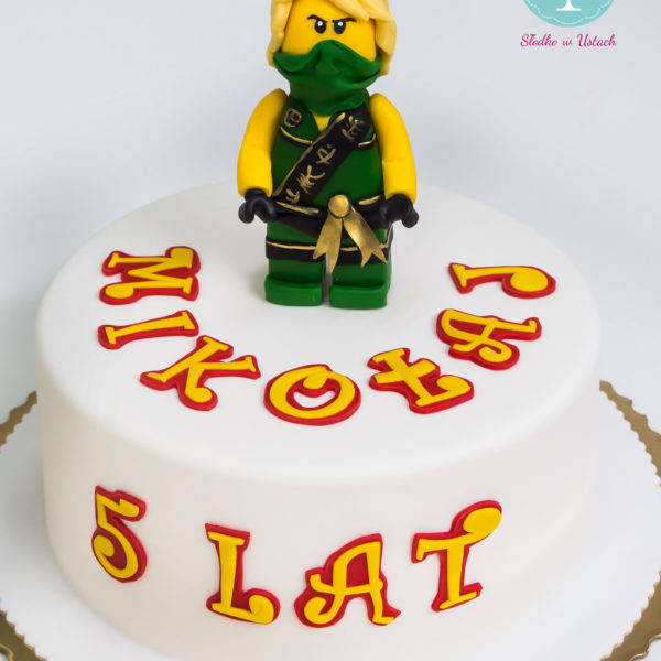U198 - tort urodzinowy, na urodziny, dla dzieci, artystyczny, lego, ninjago, warszawa