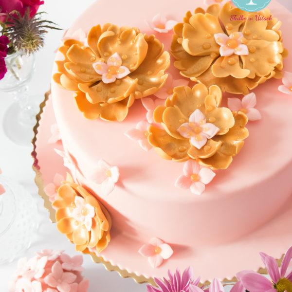 U203 - tort urodzinowy, na urodziny, kwiaty, z kwiatami, artystyczny, warszawa, z dostawą,