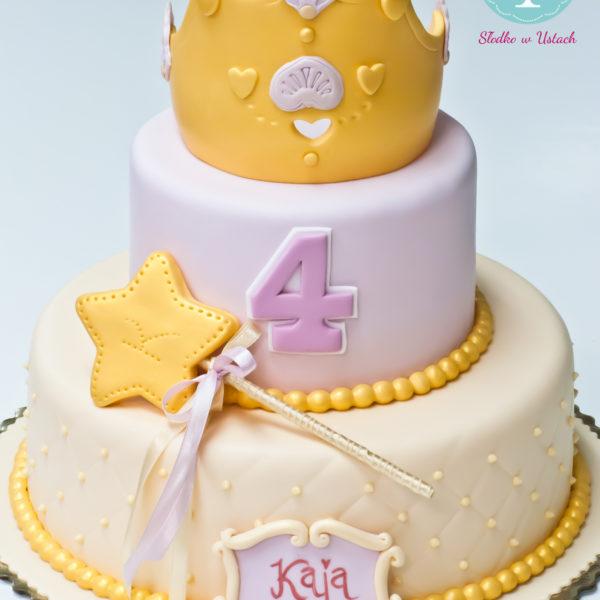 U204 - tort urodzinowy, na urodziny, dla dzieci, artystyczny, księżniczka, korona, konstancin jeziorna, warszawa, piaseczno