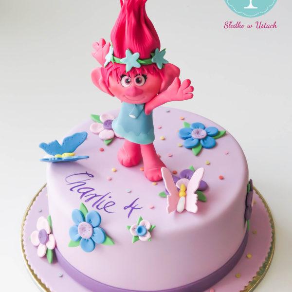 U207 - tort urodzinowy, na urodziny, dla dzieci, artystyczny, trolle, poppy, warszawa