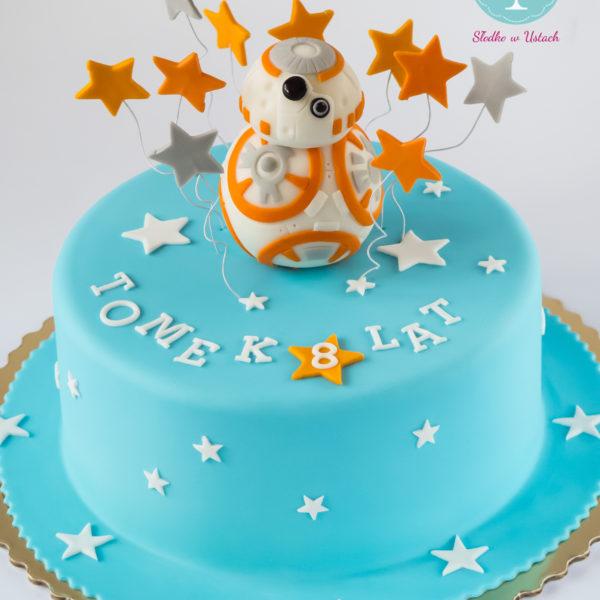 U211 - tort urodzinowy, na urodziny, dla dzieci, artystyczny, star wars, gwiezdne wojny, bb8, warszawa, z dostawą,