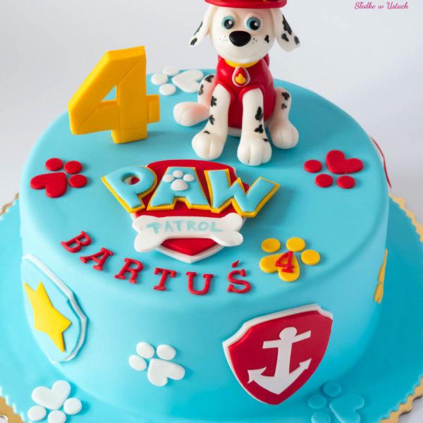 U214 - tort urodzinowy, na urodziny, dla dzieci, artystyczny, psi patrol, warszawa