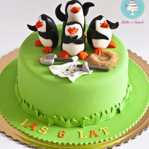 U217 - tort urodzinowy, na urodziny, dla dzieci, artystyczny, madagaskar, pingwiny z madagaskaru,