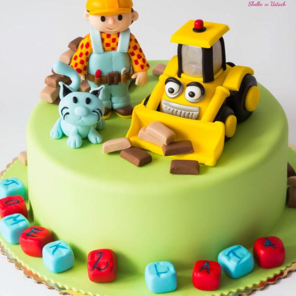U223 - tort urodzinowy, na urodziny, dla dzieci, artystyczny, bob budowniczy, warszawa