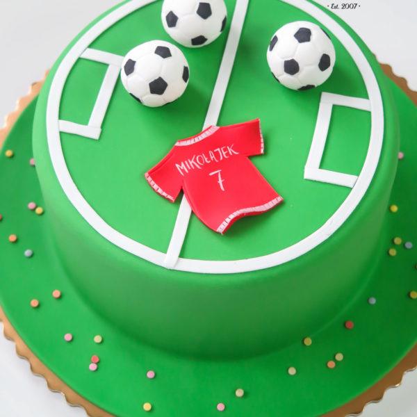 U226 - tort urodzinowy, na urodziny, dla dzieci, artystyczny, piłka nożna, piłkarski, warszawa