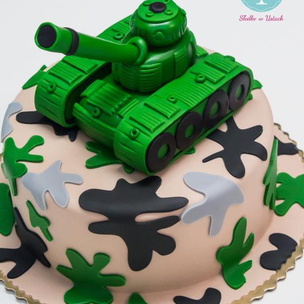 U227 - tort urodzinowy, na urodziny, dla dzieci, artystyczny, czołg, warszawa