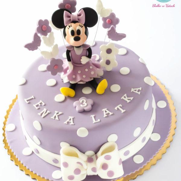 U229 - tort urodzinowy, na urodziny, dla dzieci, artystyczny, myszka minnie, warszawa, z dostawą,