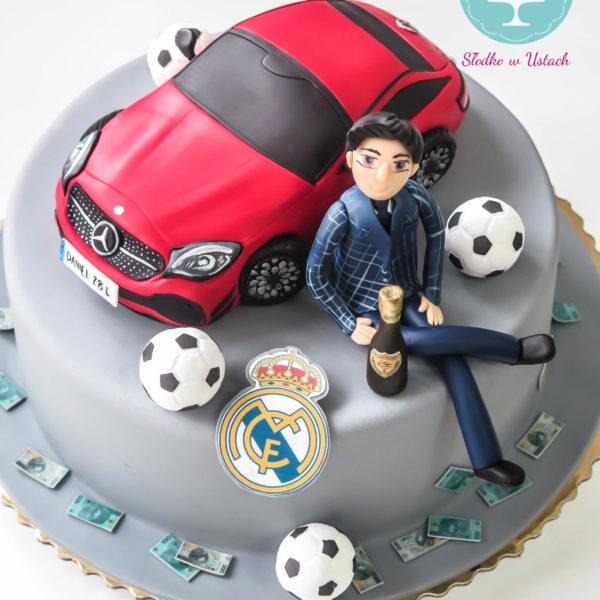 U234 - tort urodzinowy, na urodziny, artystyczny, auto, dla faceta, mercedes, warszawa