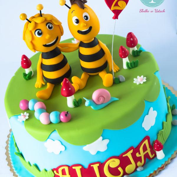 U242 - tort urodzinowy, na urodziny, dla dzieci, artystyczny, pszczółka maja, warszawa, z dostawą,