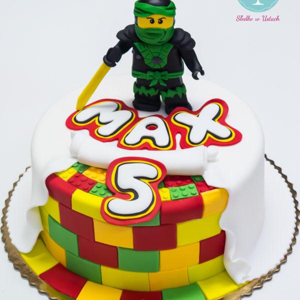 U250 - tort urodzinowy, na urodziny, dla dzieci, artystyczny, lego, ninjago, warszawa