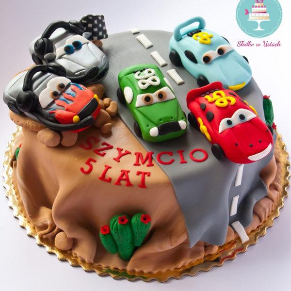 U252 - tort urodzinowy, na urodziny, dla dzieci, artystyczny, auta, cars, zygzak, mcqueen, warszawa