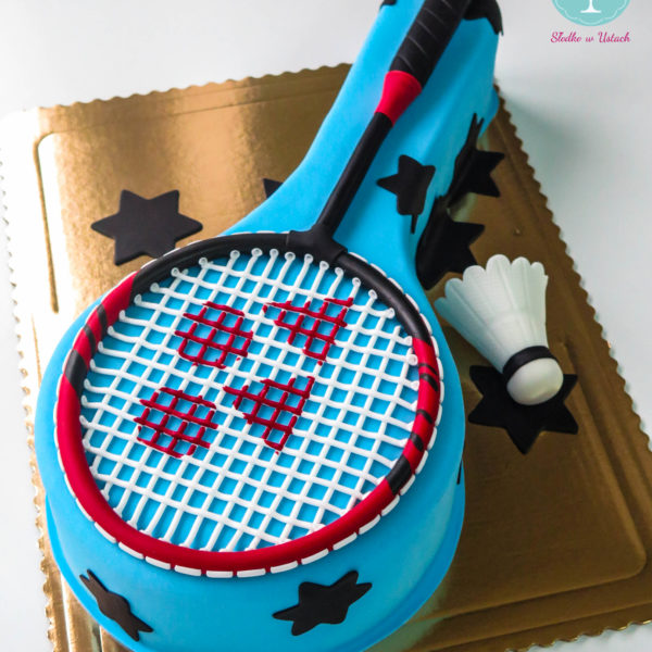 U255 - tort urodzinowy, na urodziny, artystyczny, badminton, warszawa