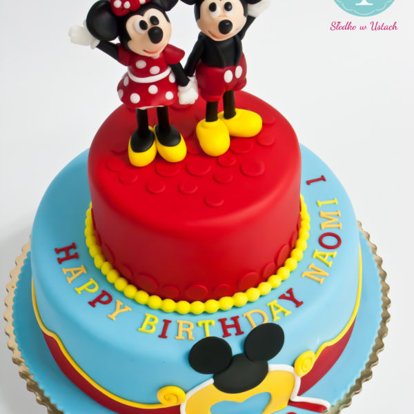 U261 - tort urodzinowy, na urodziny, dla dzieci, artystyczny, klub przyjaciół myszki miki, warszawa