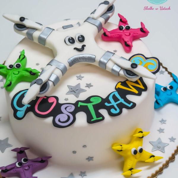 U265 - tort urodzinowy, na urodziny, dla dzieci, artystyczny, dron, warszawa,