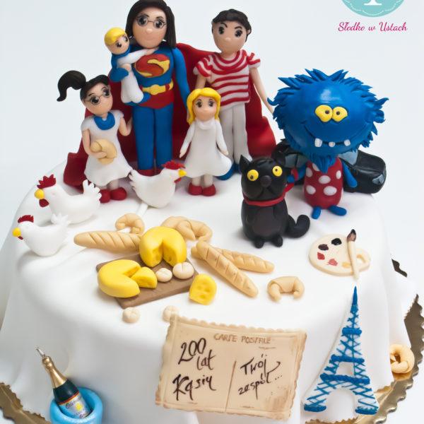 U266 - tort urodzinowy, na urodziny, artystyczny, pasja, super mama,