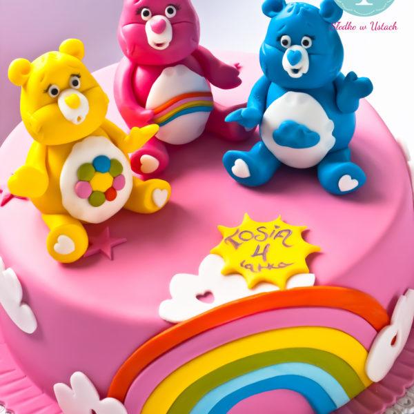 U275 - tort urodzinowy, na urodziny, dla dzieci, artystyczny, troskliwe misie, konstancin jeziorna, warszawa, piaseczno