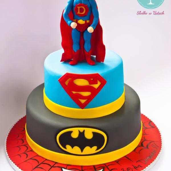 U276 - tort urodzinowy, na urodziny, dla dzieci, artystyczny, superman, batman, spiderman, dc comics, super bohaterowie, warszawa,