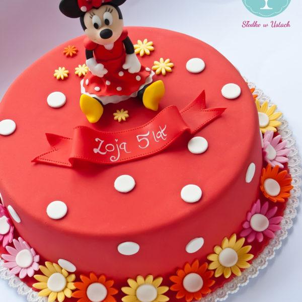 U277 - tort urodzinowy, na urodziny, dla dzieci, artystyczny, myszka minnie, warszawa, z dostawą,