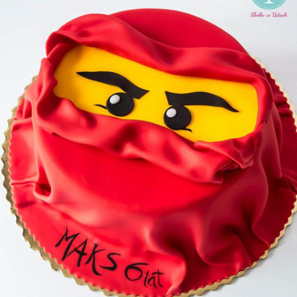 U278 - tort urodzinowy, na urodziny, dla dzieci, artystyczny, lego, ninjago, warszawa