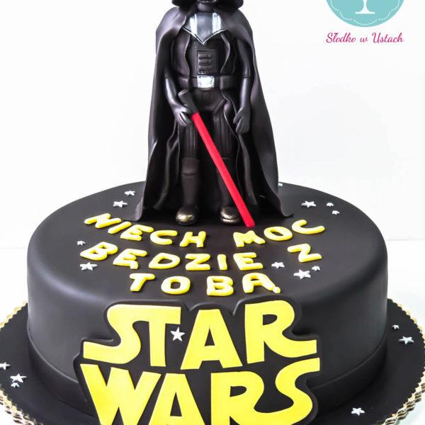 U280 - tort urodzinowy, na urodziny, dla dzieci, artystyczny, star wars, gwiezdne wojny, lord vader, warszawa, z dostawą,