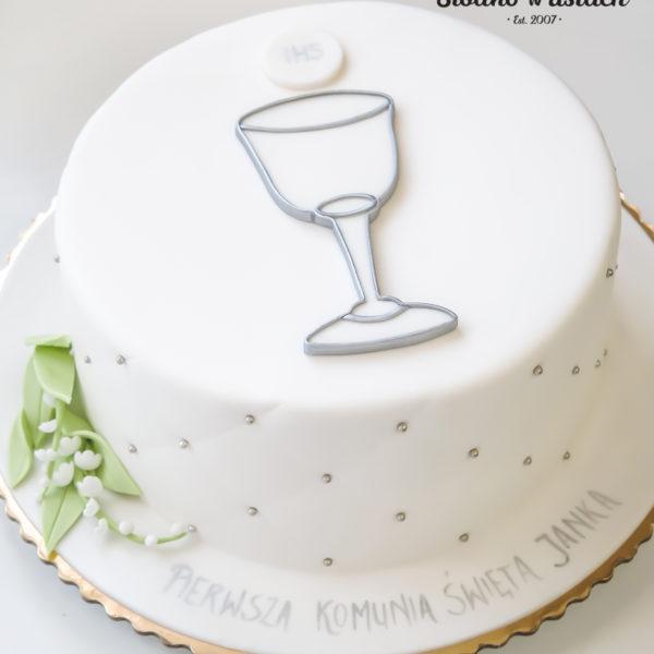 KCH40 - tort na komunie, dla dzieci, artystyczny, komunijny,