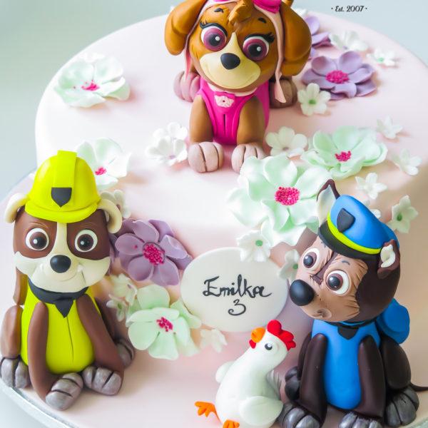 U284 - tort urodzinowy, na urodziny, dla dzieci, artystyczny, psi patrol, warszawa, dla dziewczynki