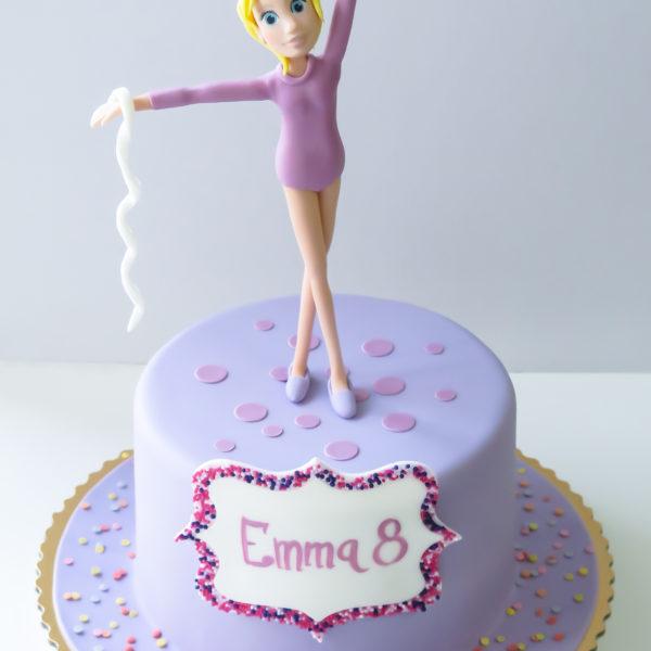 U286 - tort urodzinowy, na urodziny, hobby, pasja, artystyczny, gimnastyka, sport, dla dziewczynki