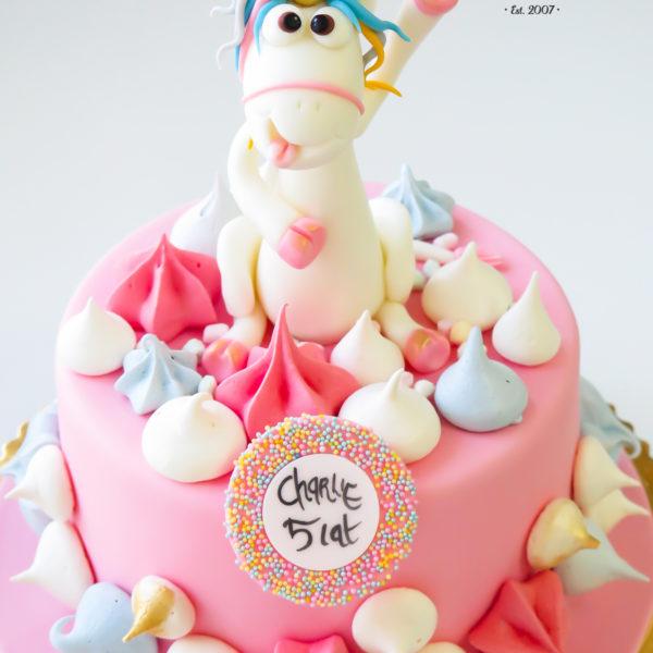 U287 - tort urodzinowy, na urodziny, dla dzieci, artystyczny, jednorożec, warszawa, z dostawą, konstancin jeziorna