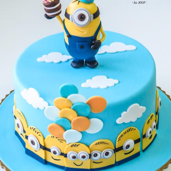 U292 - tort urodzinowy, na urodziny, dla dziecka, artystyczny, minionki, konstancin jeziorna, warszawa