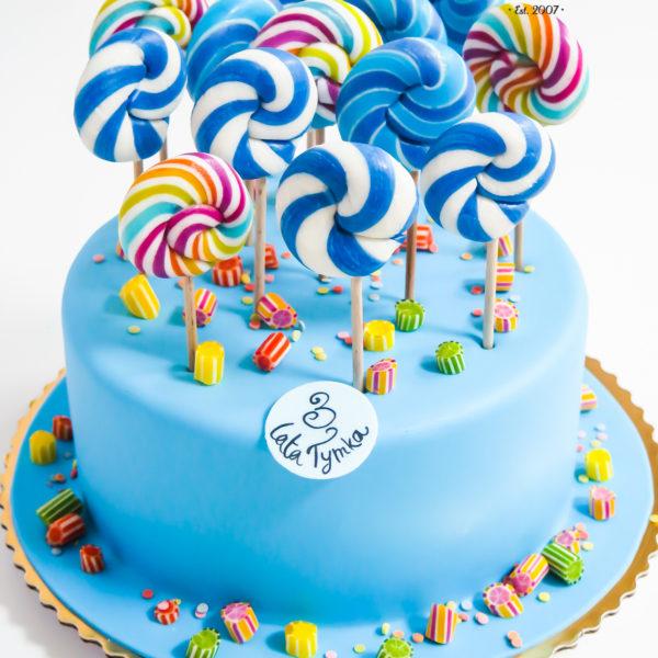 U293 - tort urodzinowy, na urodziny, dla dzieci, artystyczny, lizaki, cukierki, konstancin jeziorna, warszawa, manufaktura cukierków